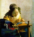 Vermeer The lacemaker, 1669 1670, 23 9 x 20 5 cm, Louvre