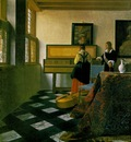 Vermeer The music lesson, ca 1662 1665, 74 6x64 1 cm, Royal