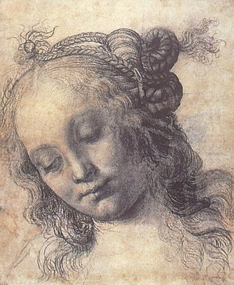 Verrocchio Head of a Girl study