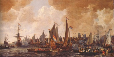 verschuier the arrival of charles ii of england in rotterdam, 24 may