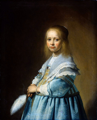 Verspronck Jan Cornelisz Girl in blue Sun