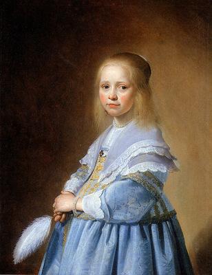 Verspronck Johannes The girl in blue Sun