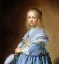 Verspronck Johannes The girl in blue Sun