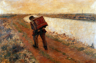 Verstraete Theodoor The organ grinder Sun