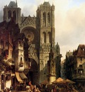 Verveer Salamon Leonardus view wtih a cathedral Sun