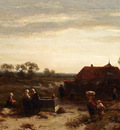 Verveer Salomon Leonardus Figures In The Dunes Near Scheveningen