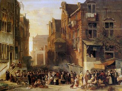 Verveer Sam Fantasy view on the Jewish quarter Sun