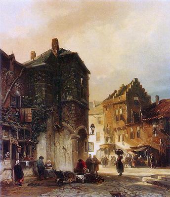 Verveer Samuel A market scene Sun