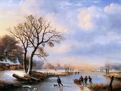 Verwee Louis Pierre Winter Sun