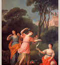 bs Joseph Marie Vien Young Greek Girls Bestowing Garlands