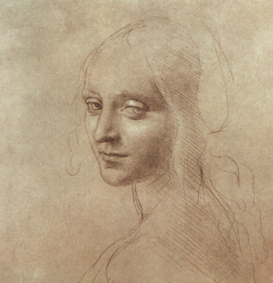 Drawing of the face of an angel EUR