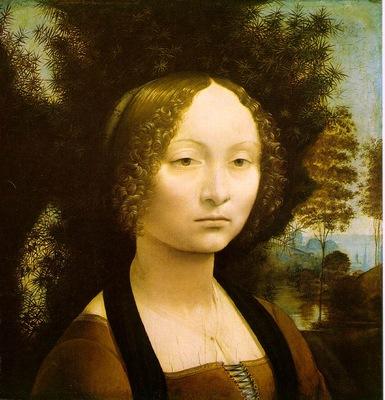 Leonardo Portrait of Ginevra Benci, 1474 76, 42x37 cm, NG Wa