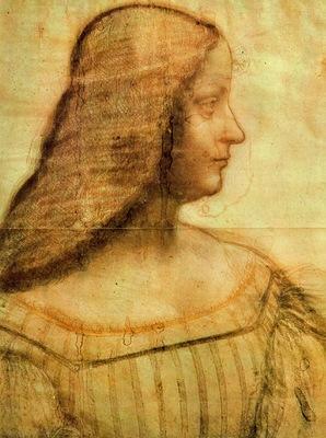 Leonardo Portrait of Isabella dEste 1499 Louvre