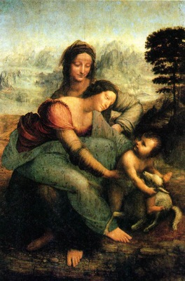 Leonardo The Virgin and Child with Saint Anne, 1510, 168x130