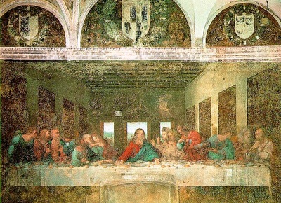 Leonardo The last supper, 1498, 460x880 cm, Convent of Santa