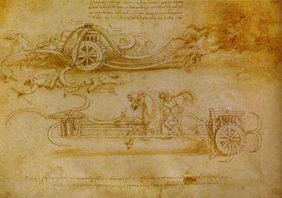 Leonardo da Vinci Battle Cart with Mobile Scythes