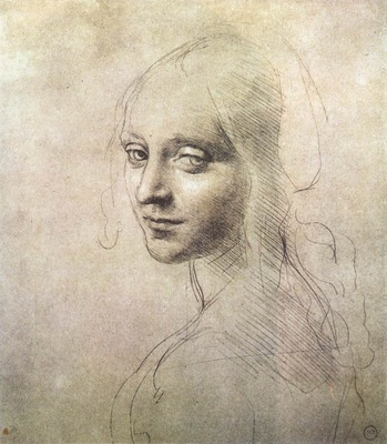 Leonardo da Vinci Head of a girl