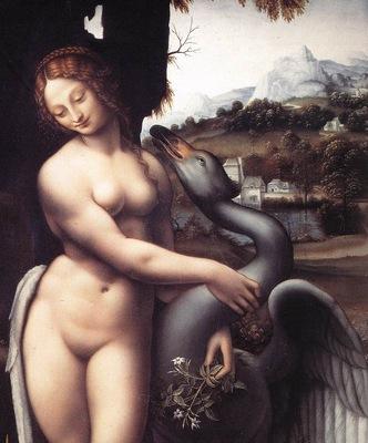 Leonardo da Vinci Leda 1508 15 detail1