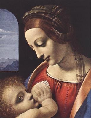Leonardo da Vinci Madonna Litta detail1