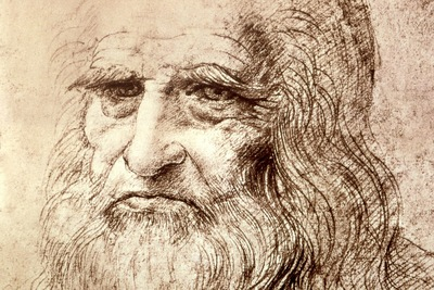 Self Portrait in Old Age, Leonardo da Vinci, 1512 1600x120
