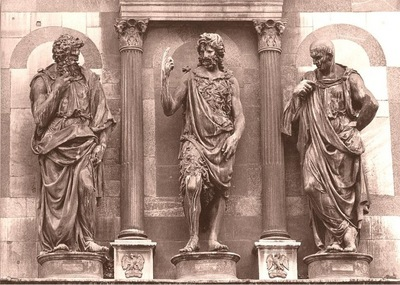 St John preaching by Rustici, Baptistery, Florence
