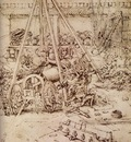 drawing depicting the casting of giant cannon 1503
