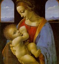 Leonardo Madonna Litta, ca 1490 91, Tempera on canvas, trans