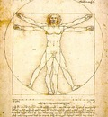 Leonardo Study of proportions from Vitruviuss De Architectu