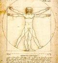 Leonardo Study of proportions from Vitruviuss De Architectu
