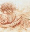Leonardo da Vinci Allegory with wolf and eagle