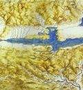 Leonardo da Vinci Birds Eye View of a Landscape
