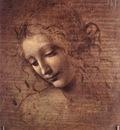 Leonardo da Vinci Female head La Scapigliata