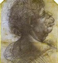 Leonardo da Vinci Grotesque Portrait Study of Man