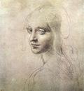 Leonardo da Vinci Head of a girl