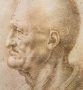 Leonardo da Vinci Profile of an old m