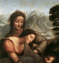 Leonardo da Vinci The Virgin and Child with St Anne detail1