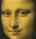 Mona Lisa Detail Face