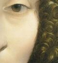 Portrait of Ginevra Benci Face Detail