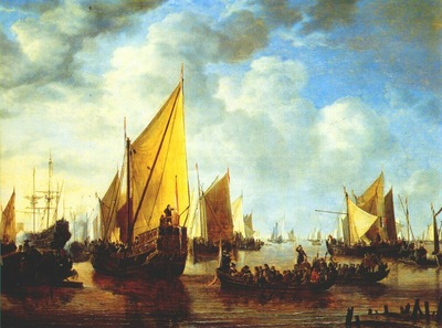 vlieger the disembarkation of prince frederik hendrik of orange