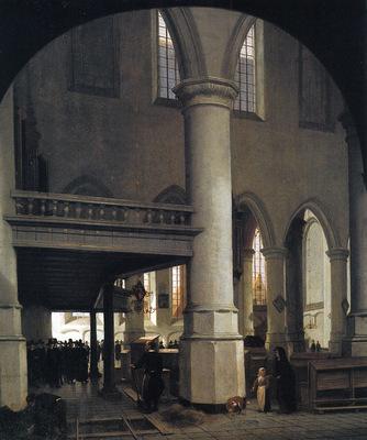 Vliet van Hendrik Interior of the Oude kerk in Delft