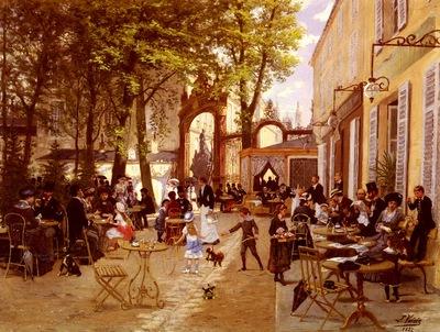 Voirin Leon Joseph La Terrasse Du Cafe Du Glacier