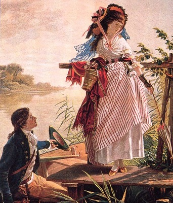 von Ramberg, Arthur Invitation to a Boat ride detail end