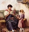 von Sospatak, Laszlo Pataky Preparing the Bridal Bouquet end
