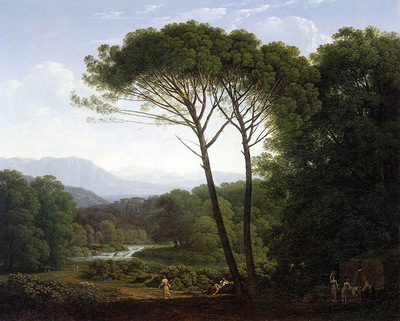 Voogd Hendrik Italianising landscape Sun