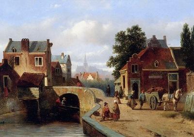 Vrolijk Jacobus Adrianus View on Amsterdam Sun