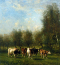 Vrolijk Johannes Farmer with cows Sun