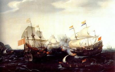 vroom skirmish betweeen dutch and english warships