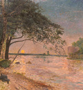 Wahlberg Alfred View Of Kronenberg Castle At Sunset