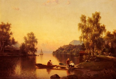 Wahlquist Ehrnfried Sketching On The Lake