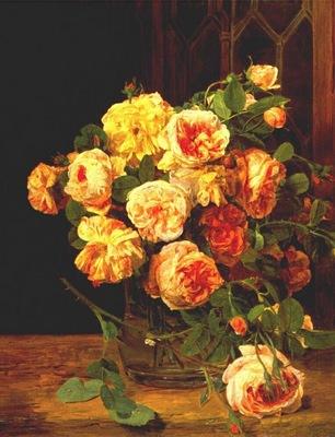 waldmueller roses by the window